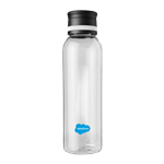 Clear Drinks Bottle with Black Lid