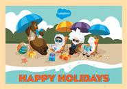 Salesforce Holiday Card - Beach